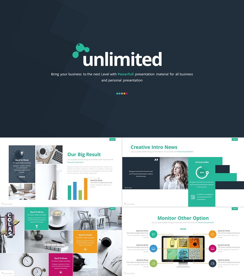 The Unlimited 2016 PowerPoint Presentation Templates Set
