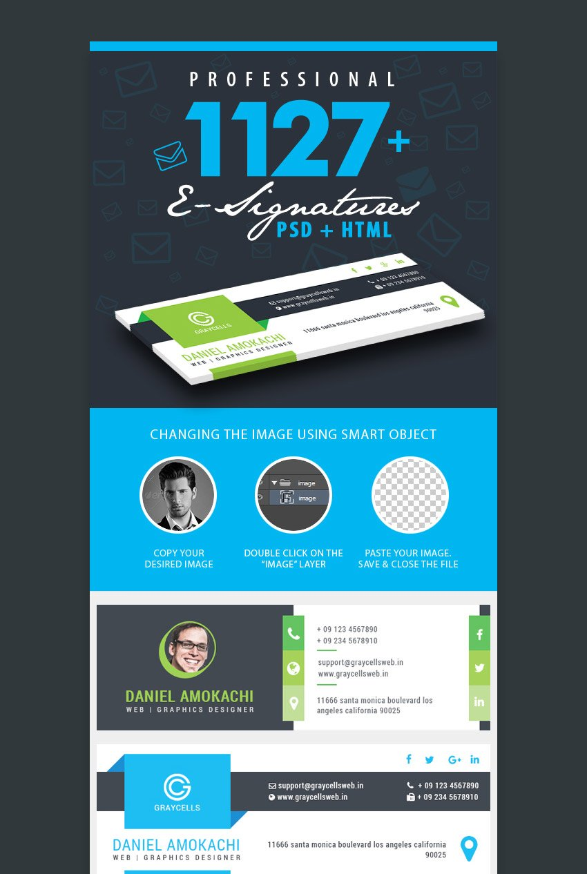 1127 Professional email signature templates