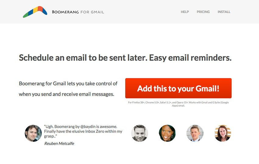How to use Boomerang for Gmail
