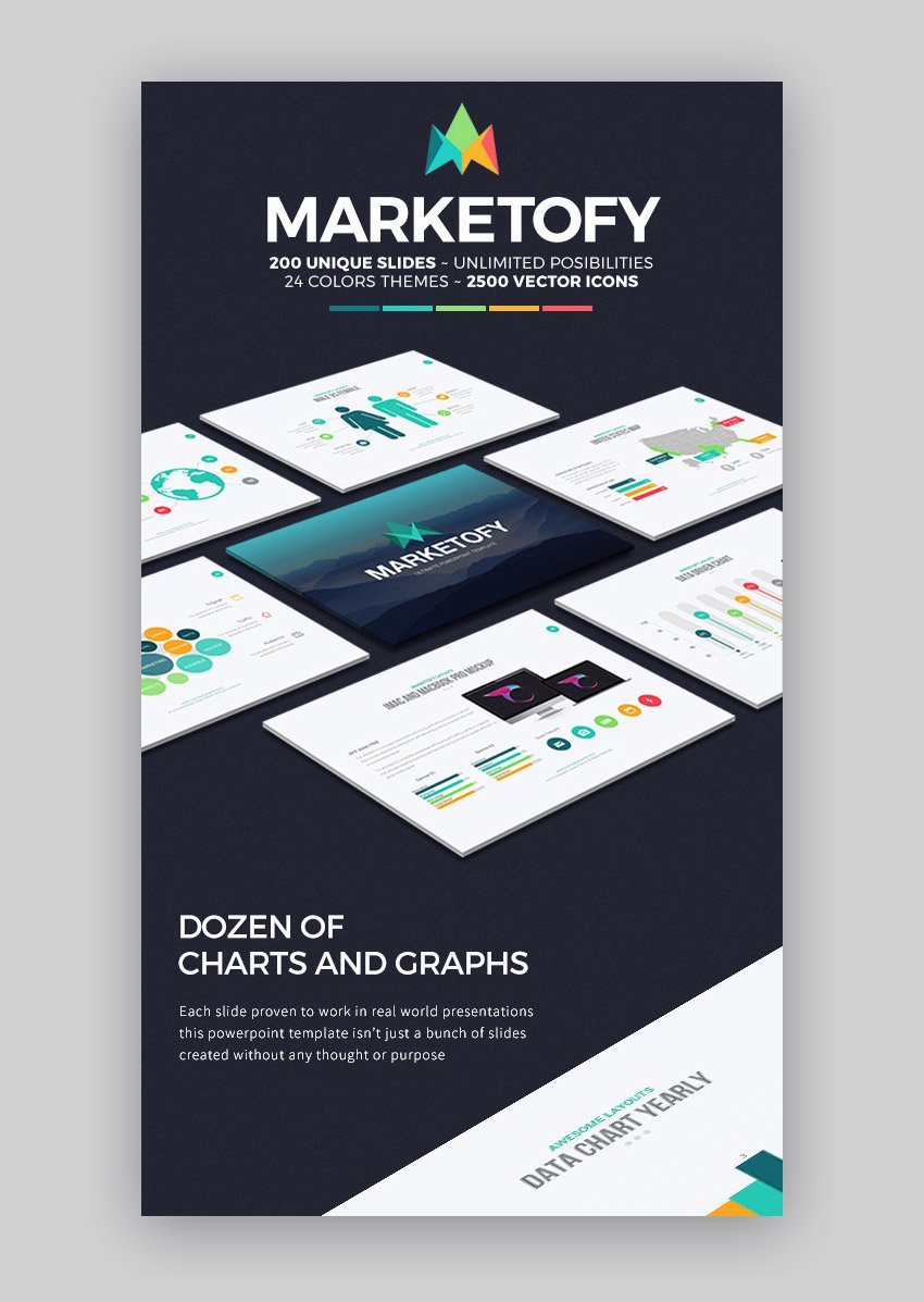 Marketofy - PowerPoint Template with Great Charts and Infographics
