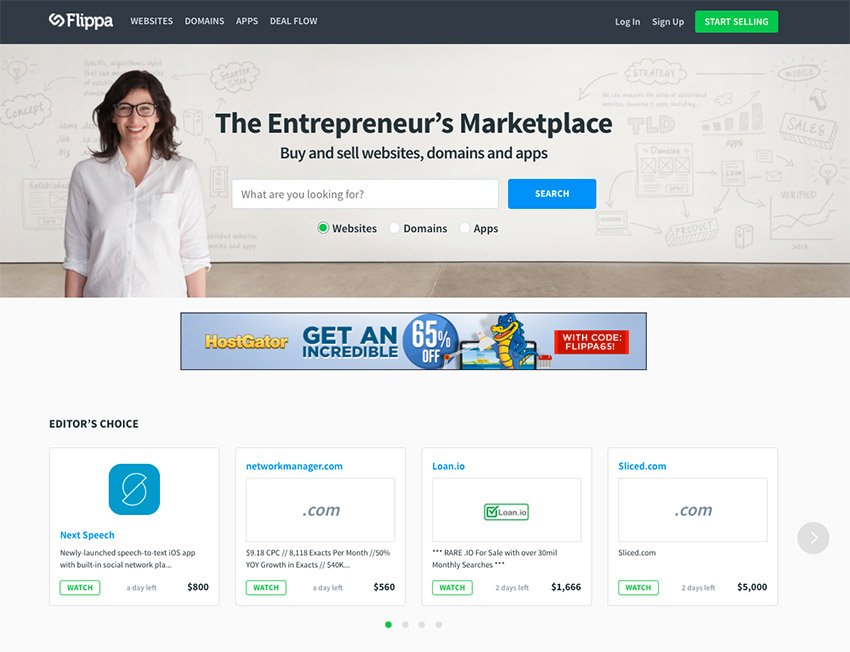 Buy a passive income site easily on Flippa