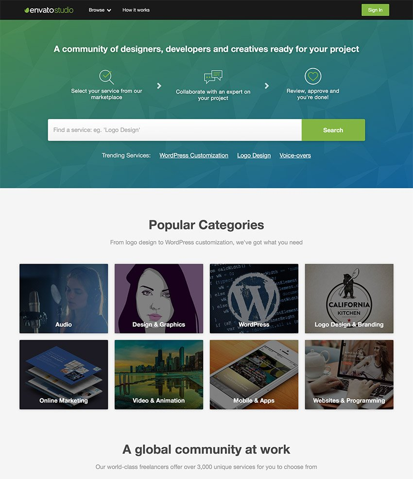 Envato Studio - Outsource your website design and marketing projects