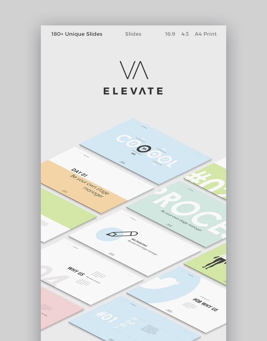 Elevate Slides Cooles Präsentations Theme für Google Slides