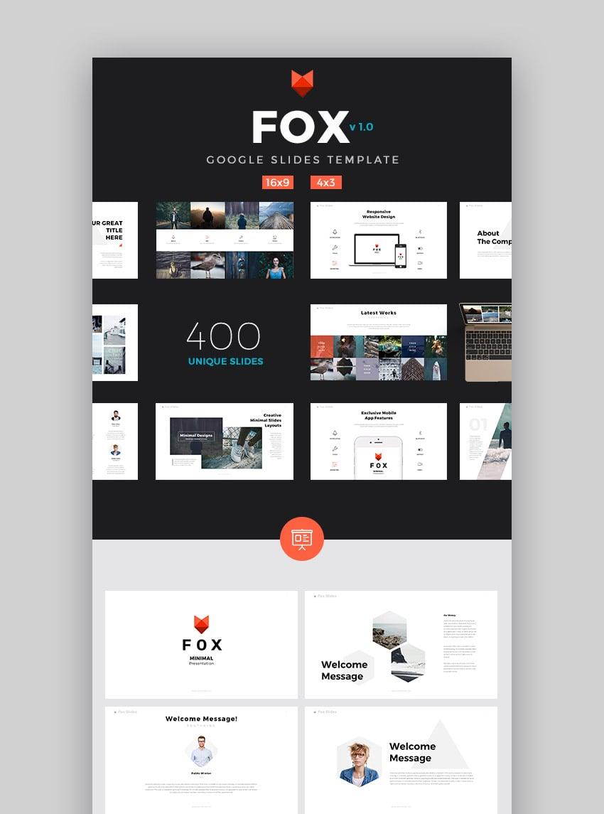 Fox - Ultimatives Google Slides Template für 2020