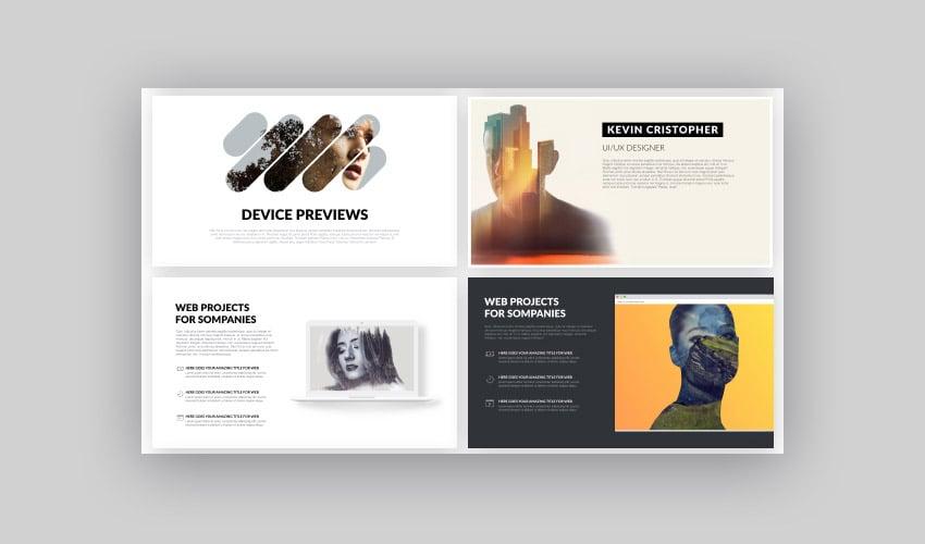 Hipster modernes Google Slides Präsentationsdesign mit kühnen Optionen