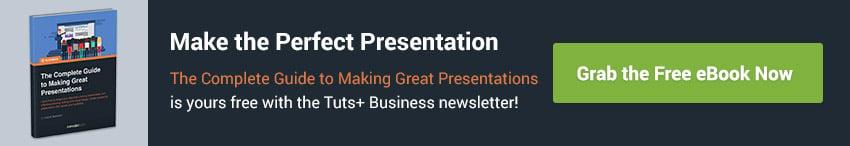 Greifen Sie sich das gratis eBook wie man großartige Präsentationen erstellt