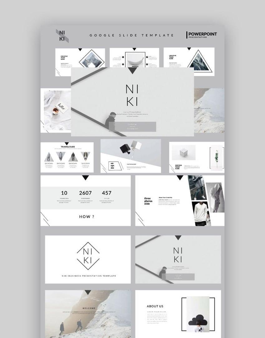 Niki Cool Google Slides Presentation Template Design