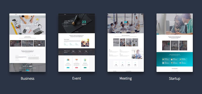 The Ark WordPress theme with multiple layout options ready to use quickly