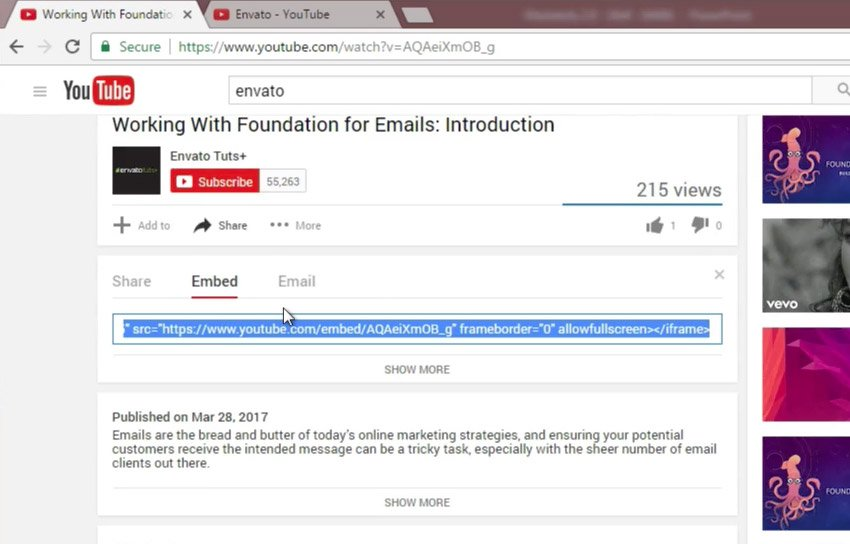 Find YouTube Videos Embed code insert into to PowerPoint