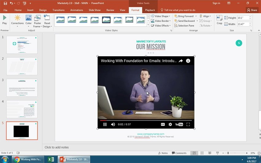 Preview the YouTube Video You Added to PowerPoint