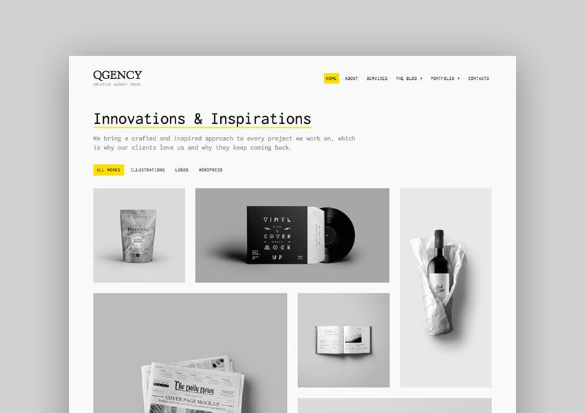 Quoon Clean WordPress Theme for creative portfolios