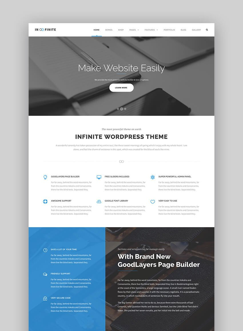 Infinite Modern Multipurpose WordPress Theme