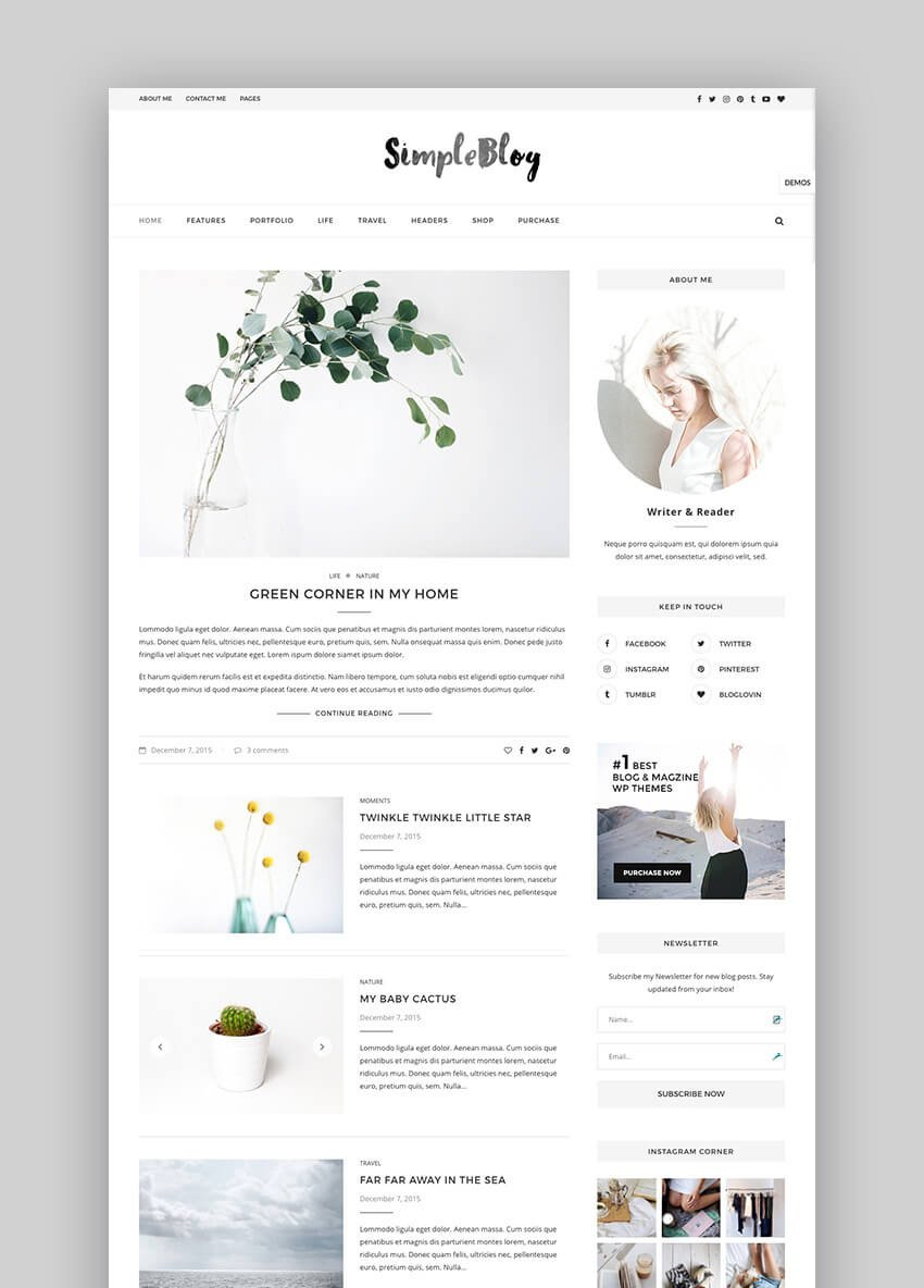 Soledad simple premium blog WordPress theme
