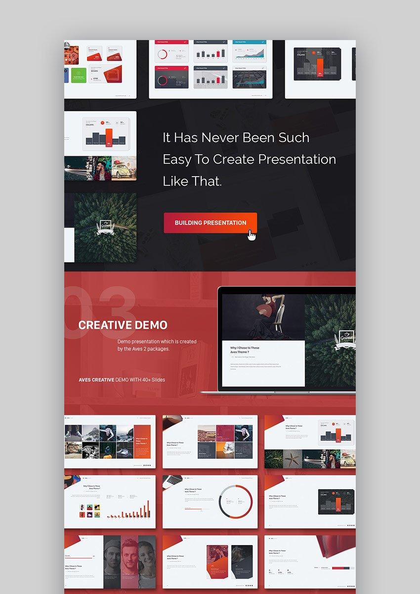 Aves 2 Colorful Keynote Presentation Slide Design Builder