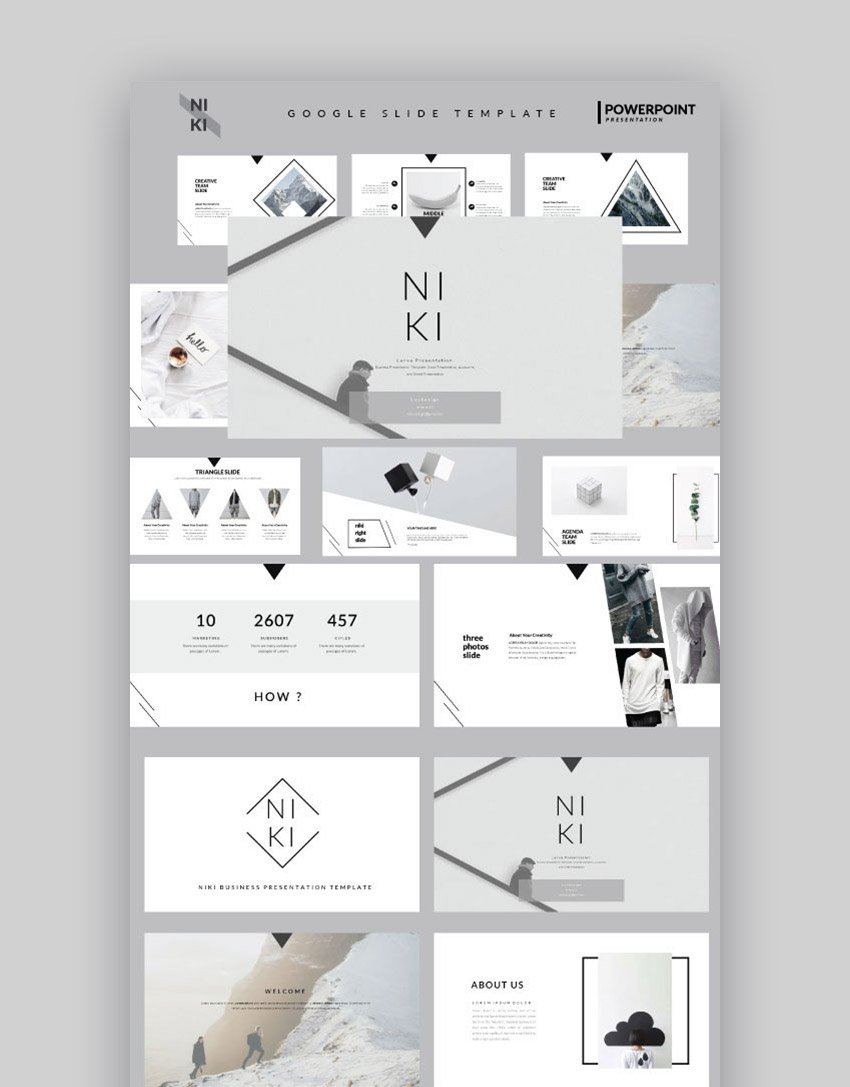 Niki Google Slide Template to Make Trendy Presentations