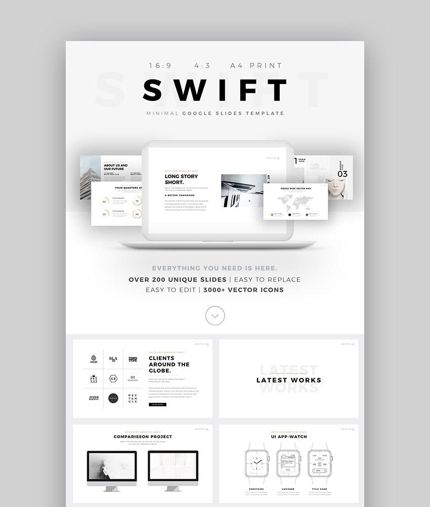 Swift Top Design Minimal Style Google Slides Template