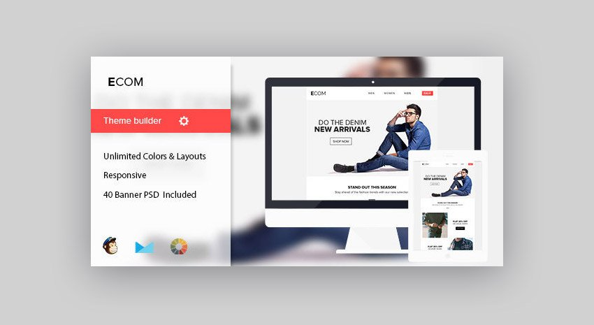 Mobile-friendly email template Ecom