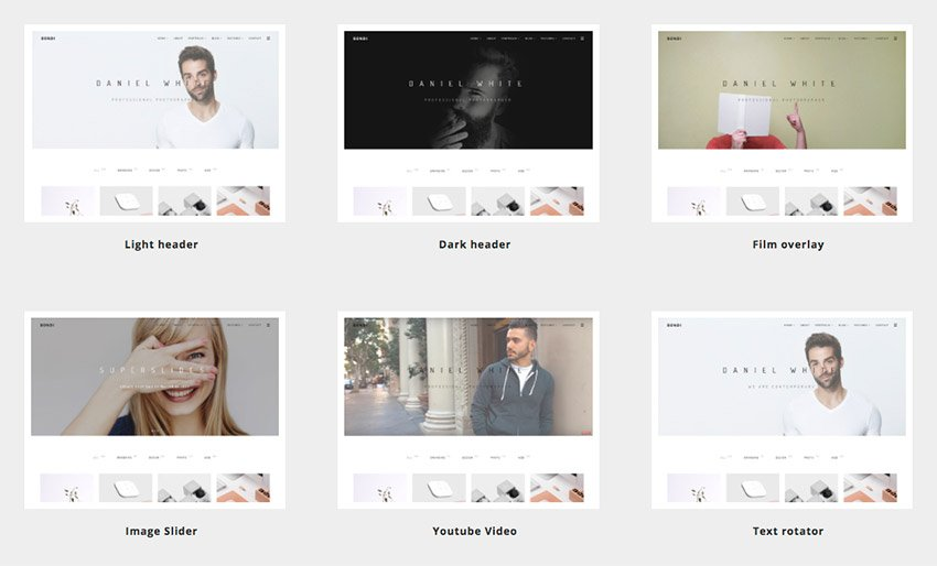 Smart simple WordPress theme layout design options