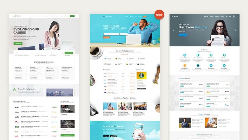 JobCareer Wordpress job board listing theme designs