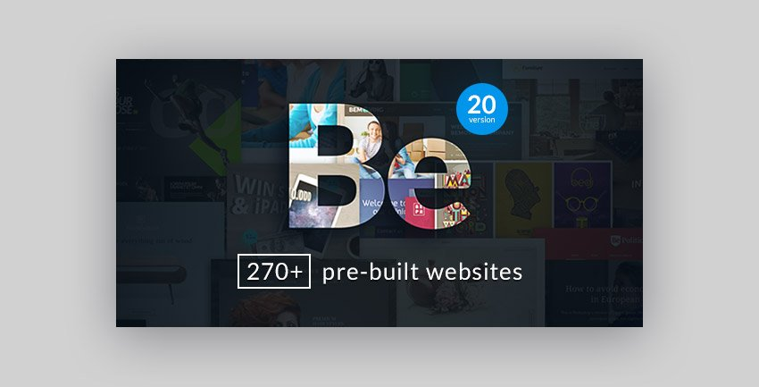 Be WordPress Business theme with multiple website design options