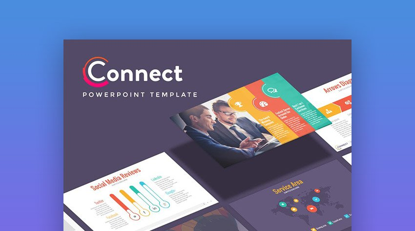 Connect Marketing Communication PowerPoint Template