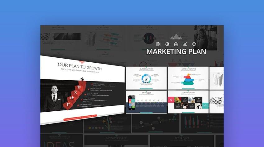 Marketing Plan PPT Powerpoint Presentation Template Design