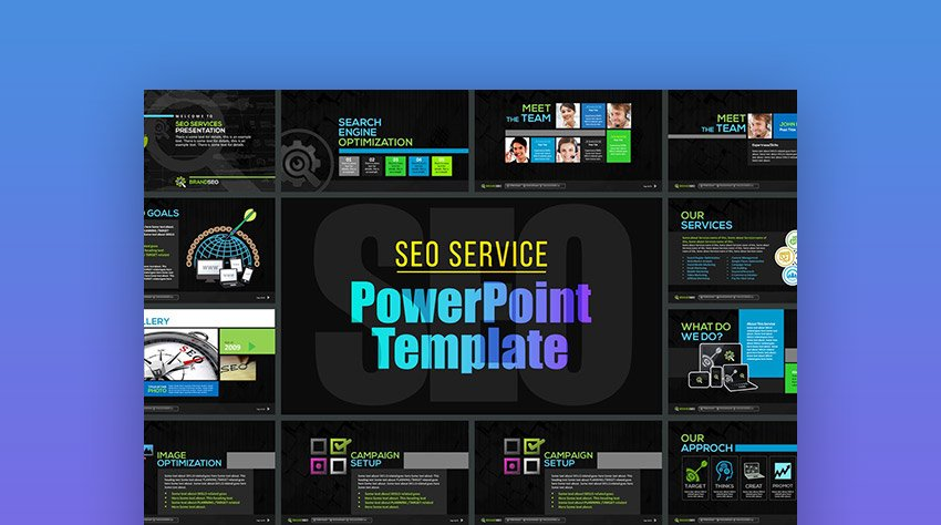 SEO Services Marketing Template for PPT PowerPoint
