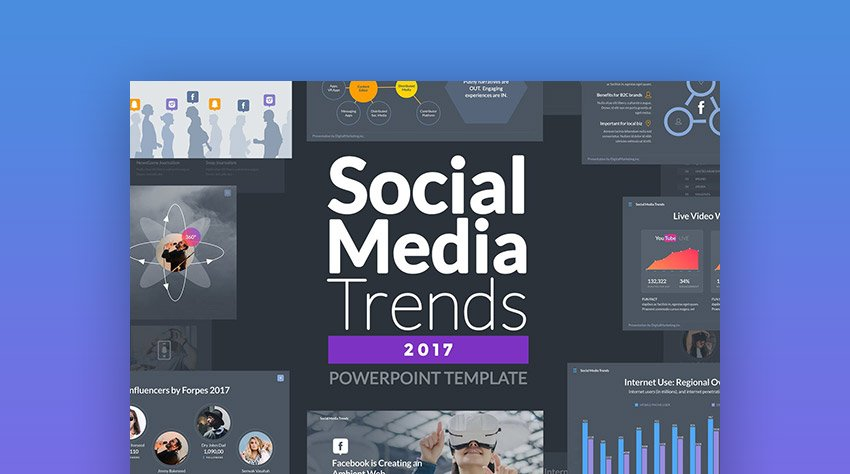 Social Media Trends PowerPoint Template Design