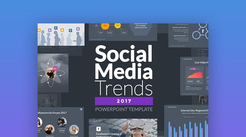 Social Media Trends PowerPoint Template Design