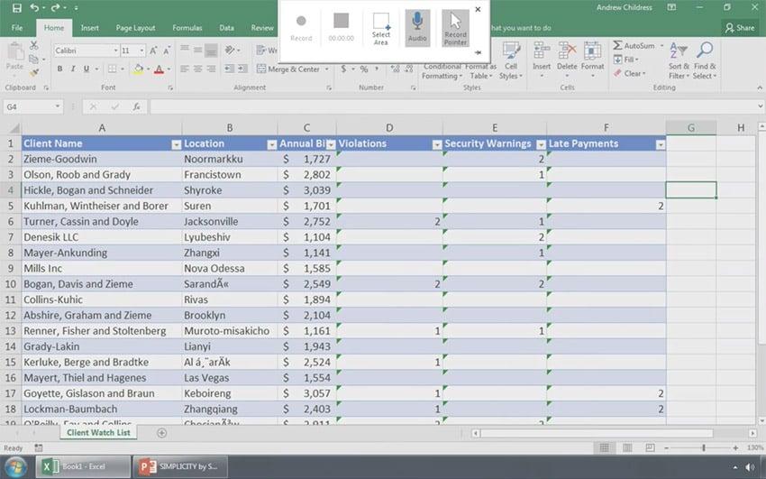 PowerPoint Screen Recording