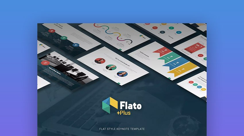 Flato Flat Presentation Theme Design for Apple Keynote