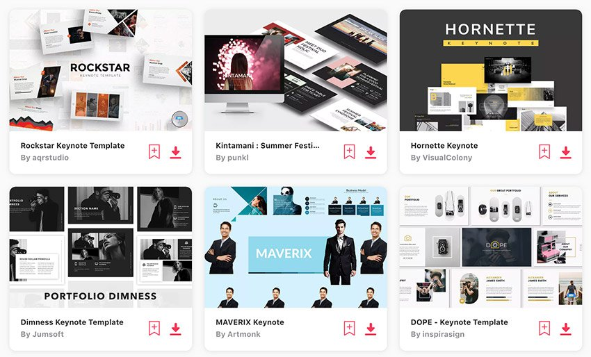 New Keynote themes on Envato Elements - with unlimited access