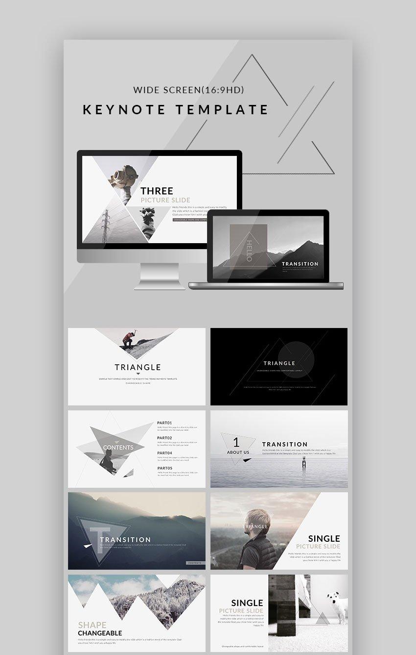 Triangle Clean Design Trend Mac Keynote Theme