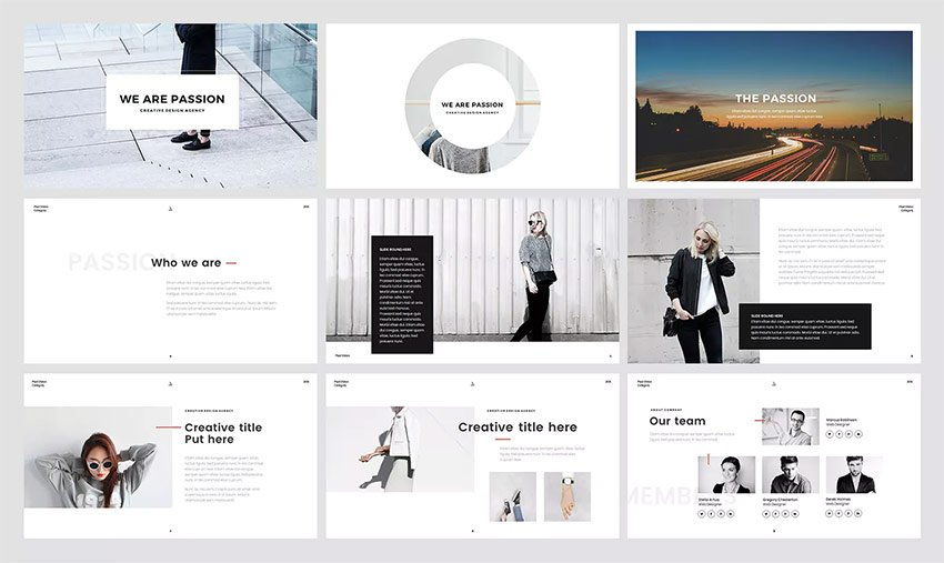 Unique PowerPoint template with cool slides and backgrounds