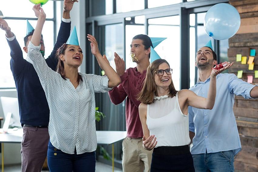 Business people having fun