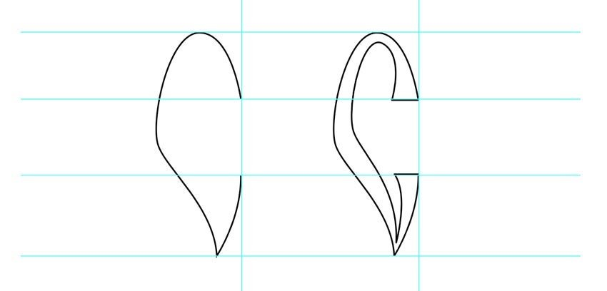 How to draw difficult letter shapes