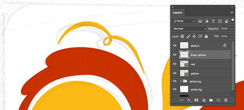 Thin lines with inker brush in Adobe Photoshop