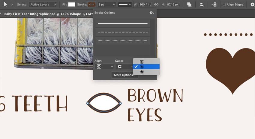 Eye shape by Pen Tool