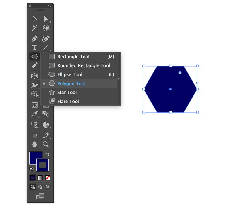 Creating polygon in Adobe Illustrator