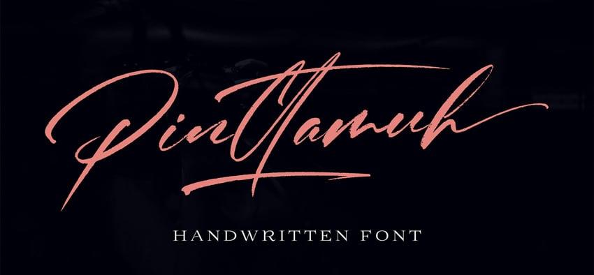 Pinttamuh Font Download Cursive
