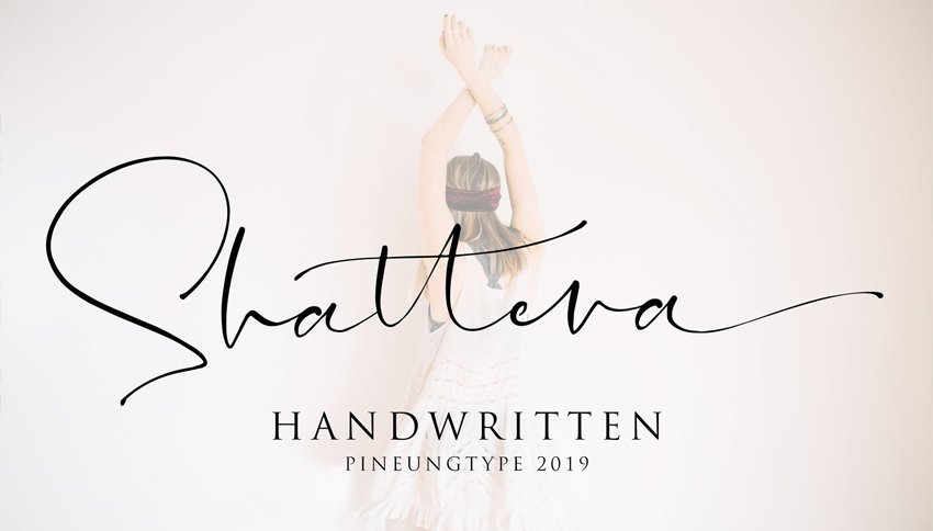 Shattera Custom Cursive Letters Font