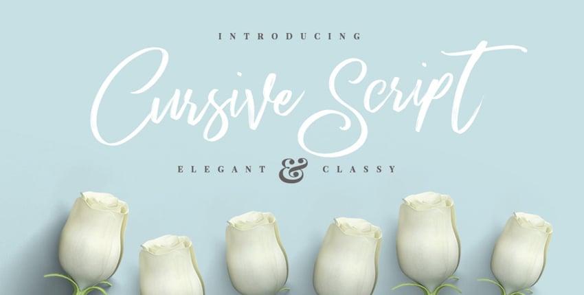 Cursive Brush Script With Custom Cursive Letters