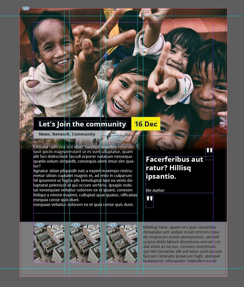 Making magazine page in Adobe InDesign