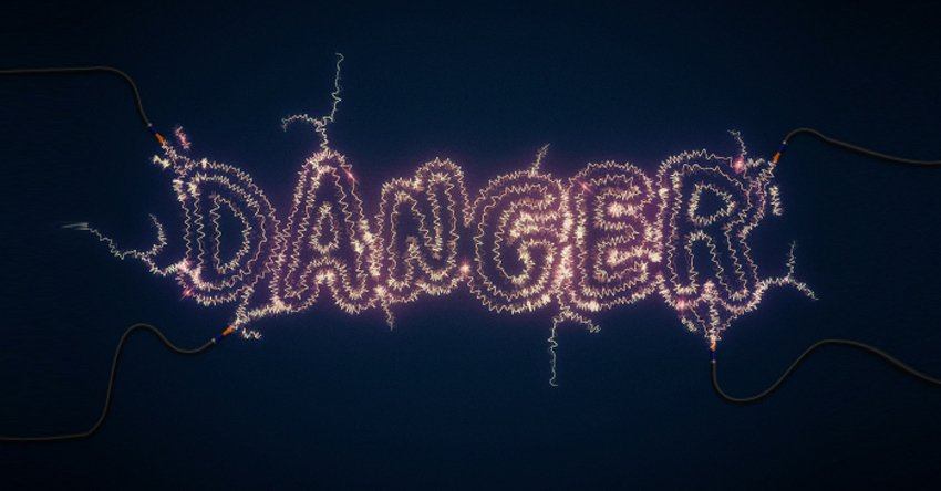 Danger Danger High Voltage Create an Electric Text Effect in Illustrator