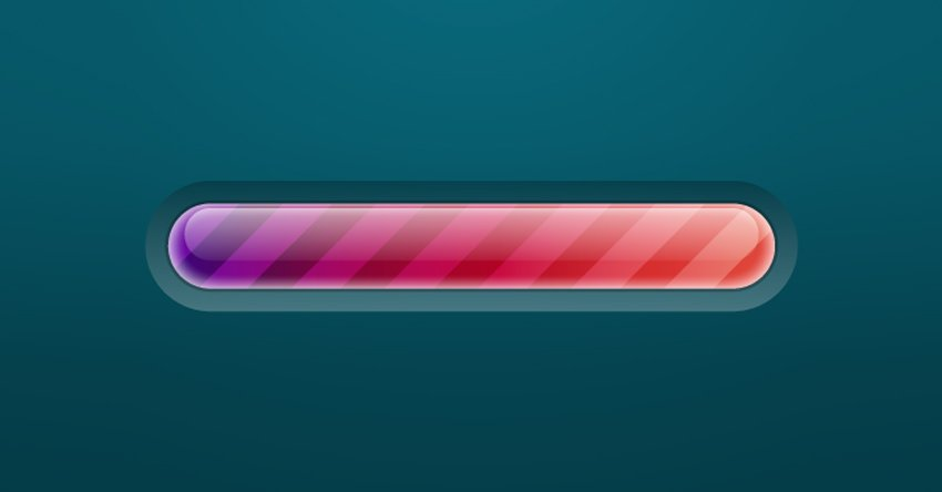Create a Brightly Colored Progress Bar Using Transparency Settings and the Appearance Panel