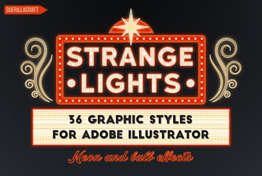 Strange Lights for Adobe Illustrator