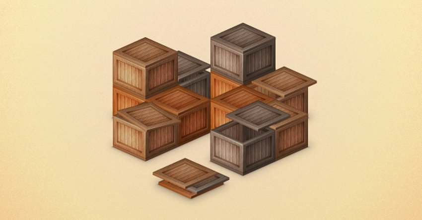 Create a Stack of Wooden Boxes in Adobe Illustrator
