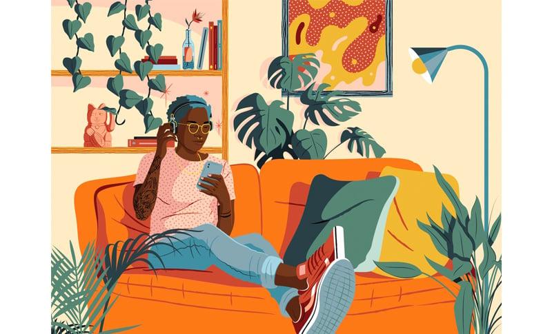 Editorial illustration by Estudio Santa Rita