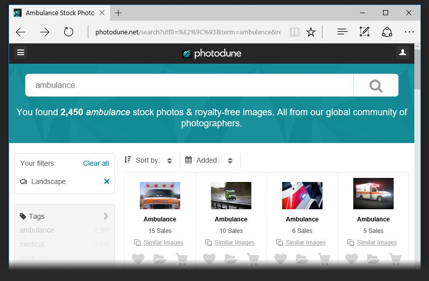 Search for ambulance photo references