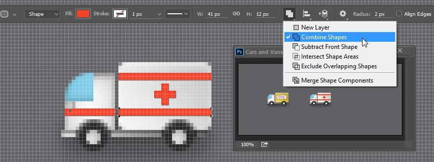 Add red rectangle and red cross shape